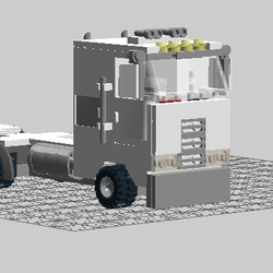 Lego City Scale Peterbilt 362 - Bricksafe