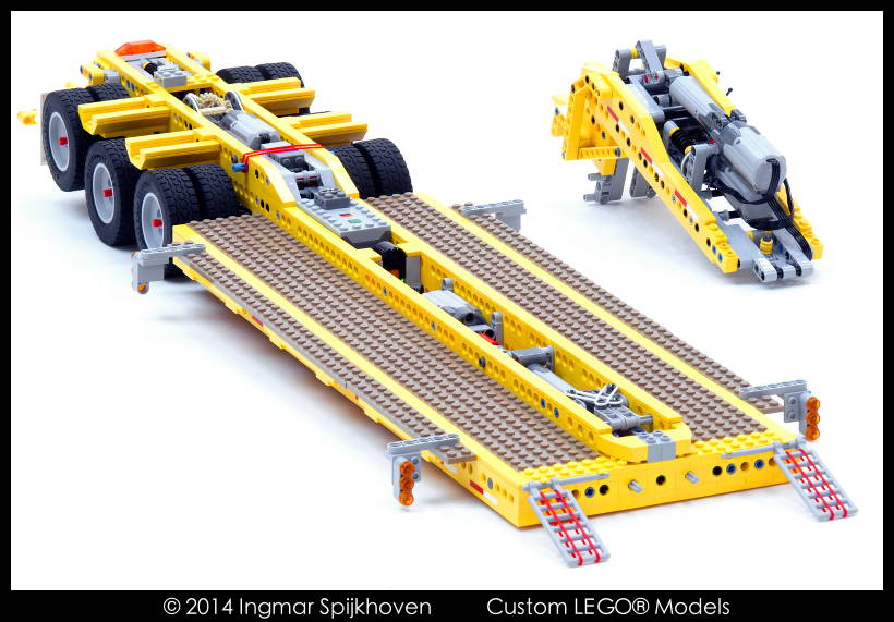 tieflader tiefladeanh nger lowboy trailer tr4 mkii with instructions lego technic und. Black Bedroom Furniture Sets. Home Design Ideas