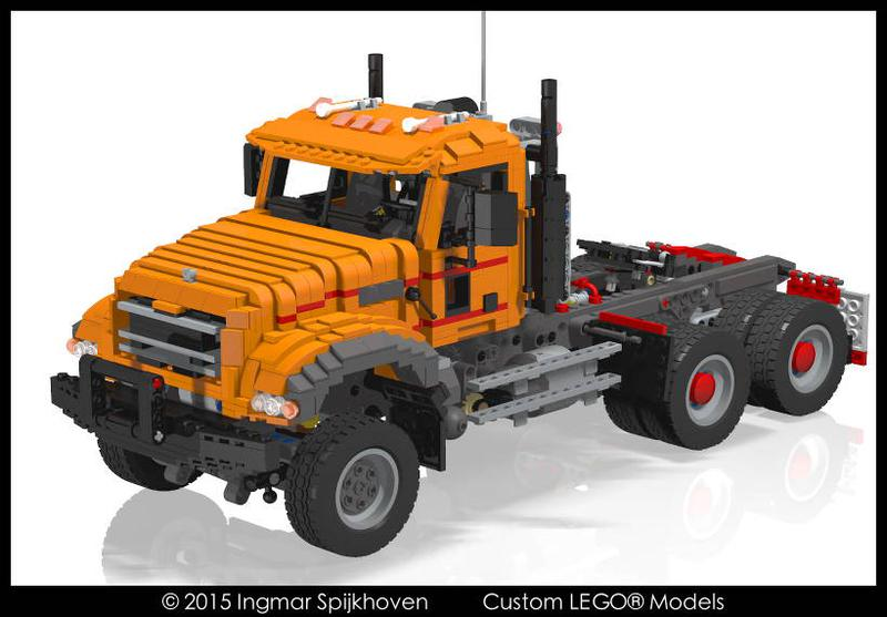 lego mack truck instructions