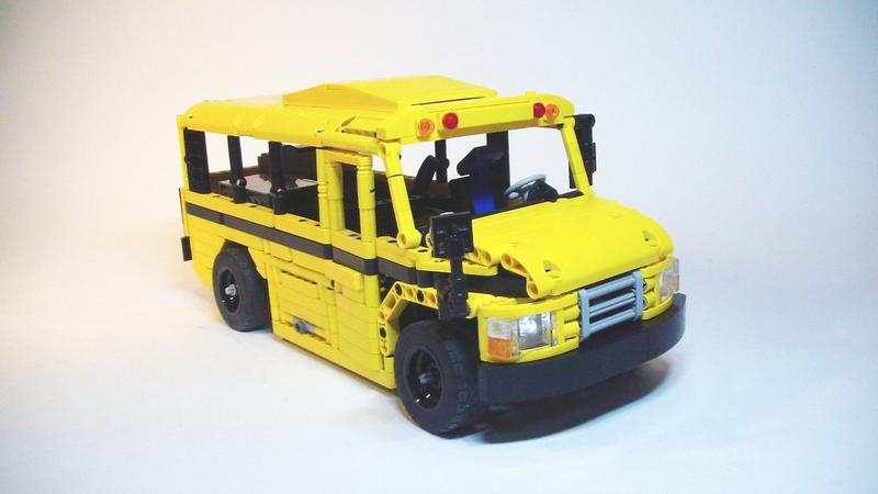 lego technic school bus bricksafe. Black Bedroom Furniture Sets. Home Design Ideas