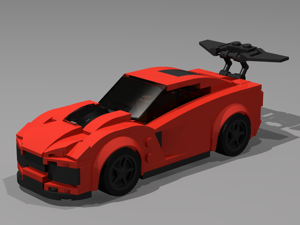 "LEGO MOC MOD of ""2019 Chevy Corvette ZR1"" Speed"