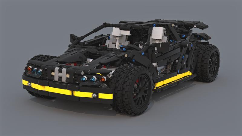 Lego Moc 7996 Rugged Supercar Technic 2017 Rebrickable Build