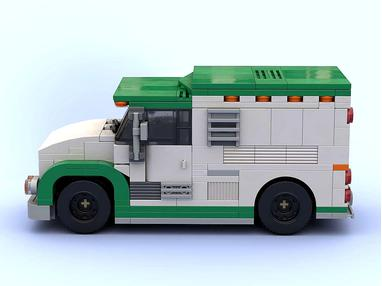 LEGO MOC-24155 Armored Cash Transport $$$ in minifig scale