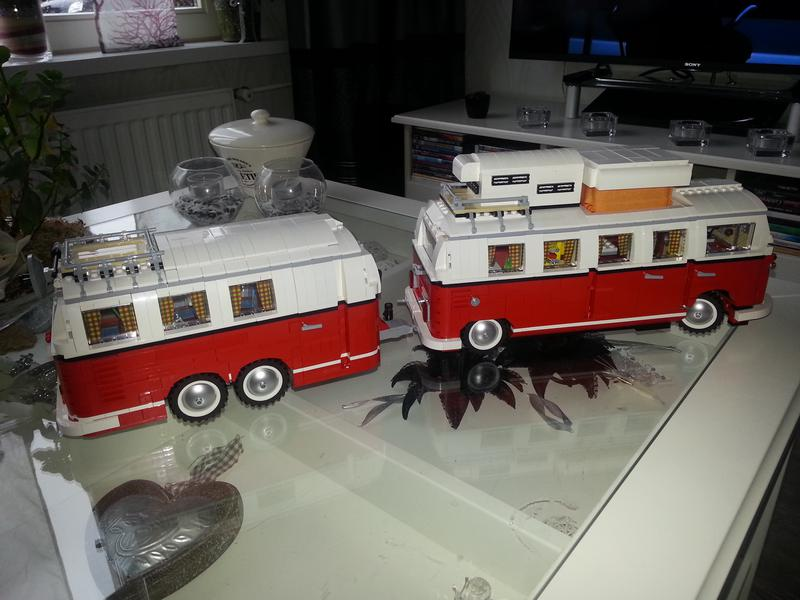 lego t1 vw camper long with rc finished lego technic and. Black Bedroom Furniture Sets. Home Design Ideas