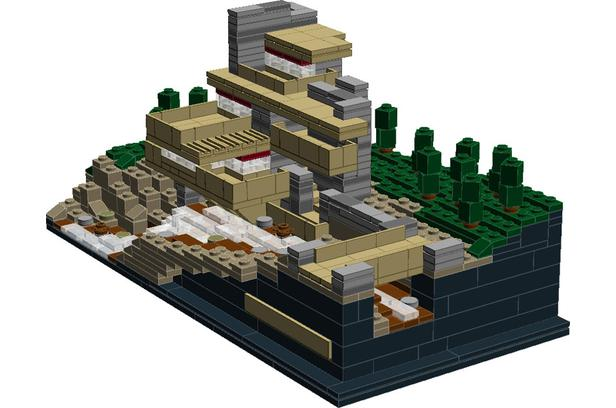 Lego Moc 1723 Color Modification Of 21005 Fallingwater Architecture