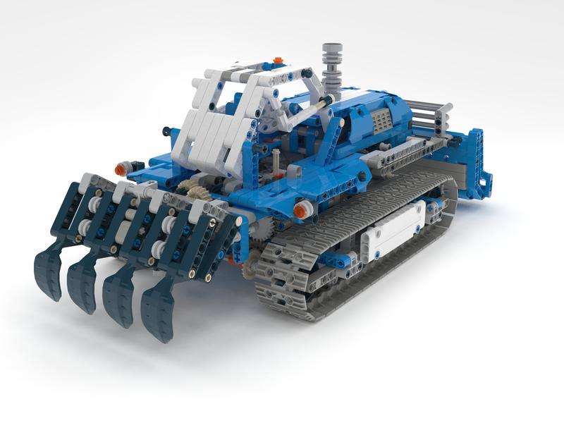 bulldozer lego technic c model 42042 alternative model. Black Bedroom Furniture Sets. Home Design Ideas