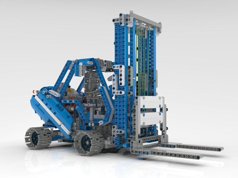 forklift lego technic c model 42042 alternative model. Black Bedroom Furniture Sets. Home Design Ideas