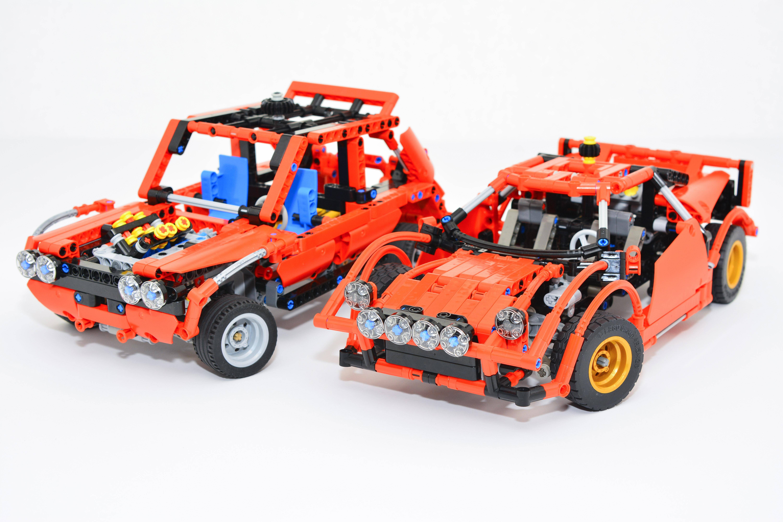 p lego lancia stratos vs small rally car bricksafe. Black Bedroom Furniture Sets. Home Design Ideas