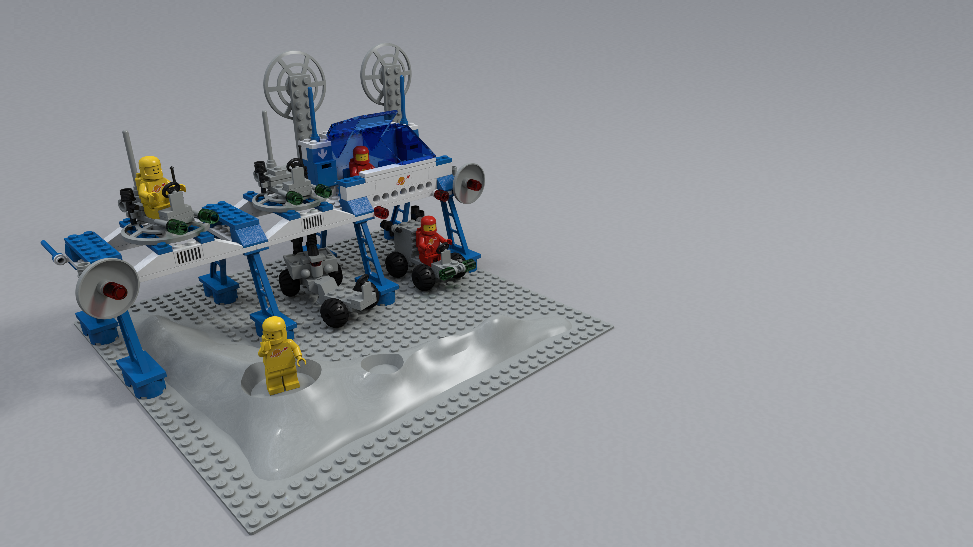 Povray renders classic space renders bricksafe for Modele maison lego classic