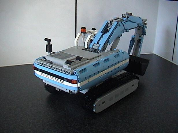 Lego Moc 9348 8043 Excavator Updated Version Technic Model 2017