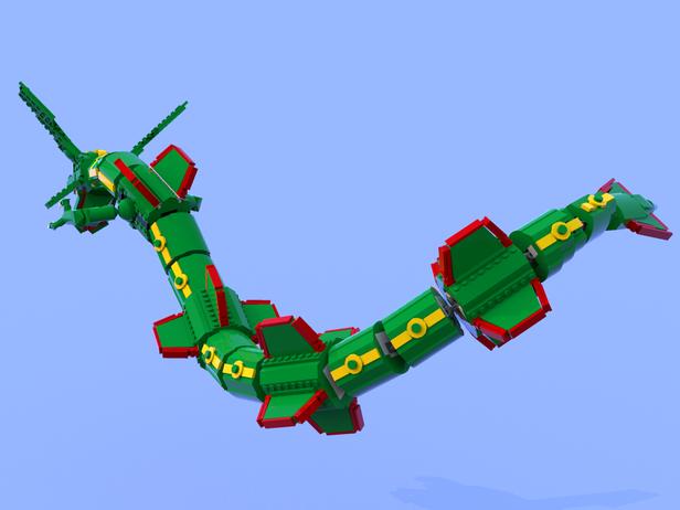 Lego Moc 8009 Pokemon Rayquaza Creator 2017 Rebrickable Build
