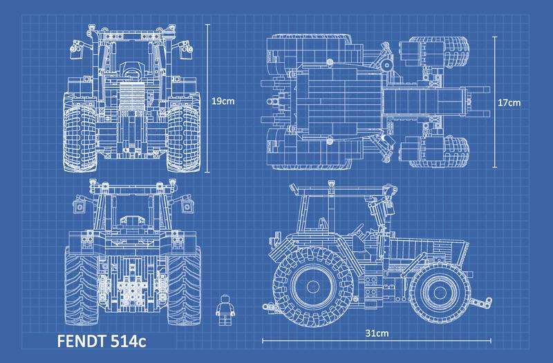 LEGO MOC-25708 Fendt Favorit 514C (Technic > Model > Farm 2019
