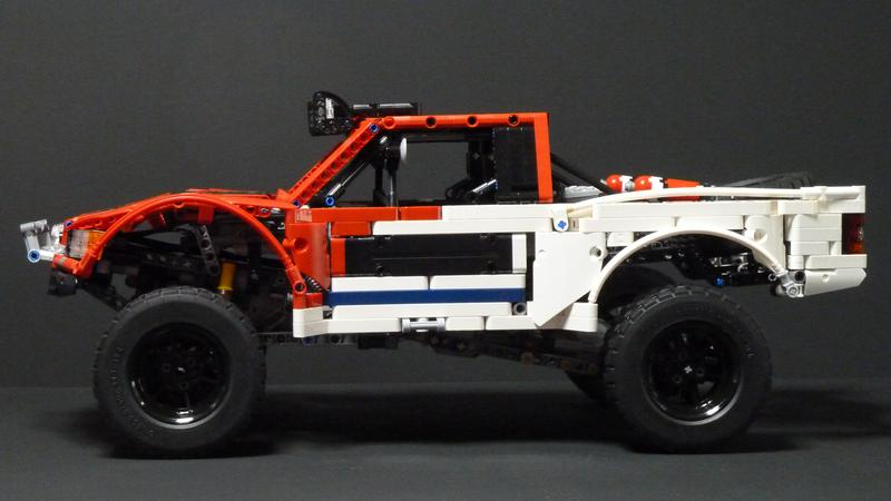 how to build a lego trophy truck