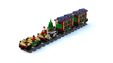 Lego Christmas Train.Lego Moc 19449 My Revisited 10254 1 Winter Holiday Train
