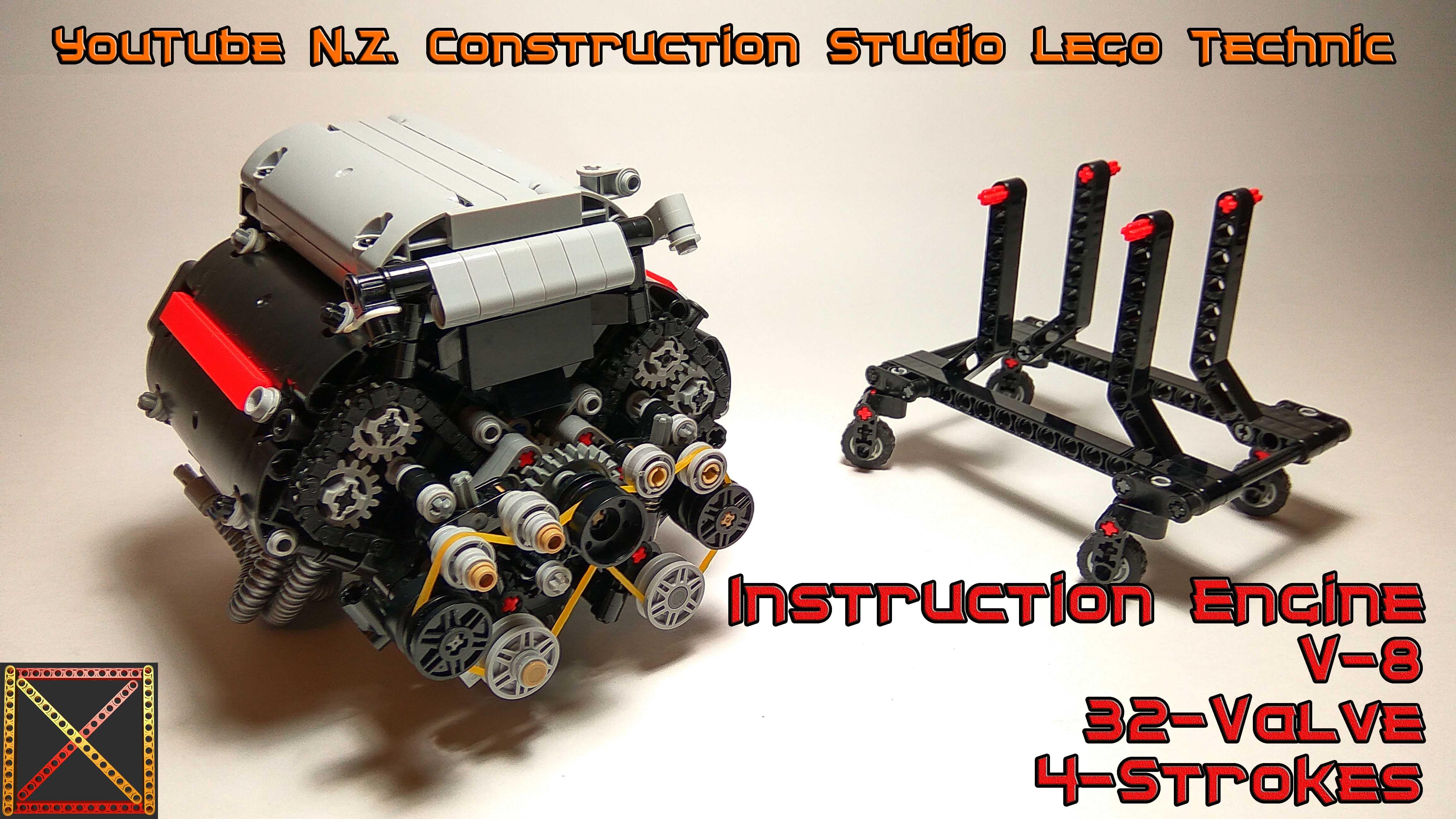 Instruction V 8 Engine 32 Valve Lego Technic Bricksafe