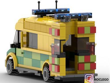 LEGO MOC-26565 British ambulance (Town > Classic Town