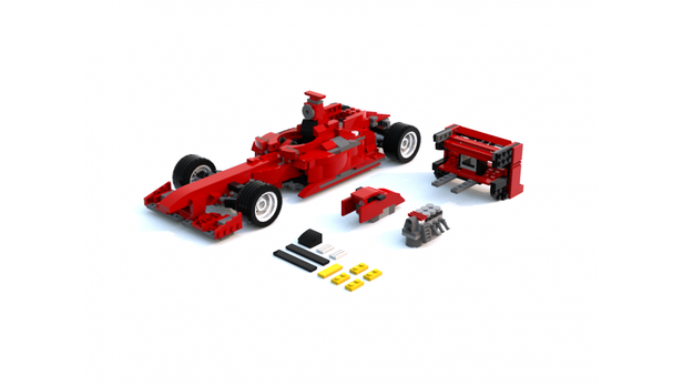 Lego Moc 4745 Ferrari F1 Racing Car Creator Basic Model Race