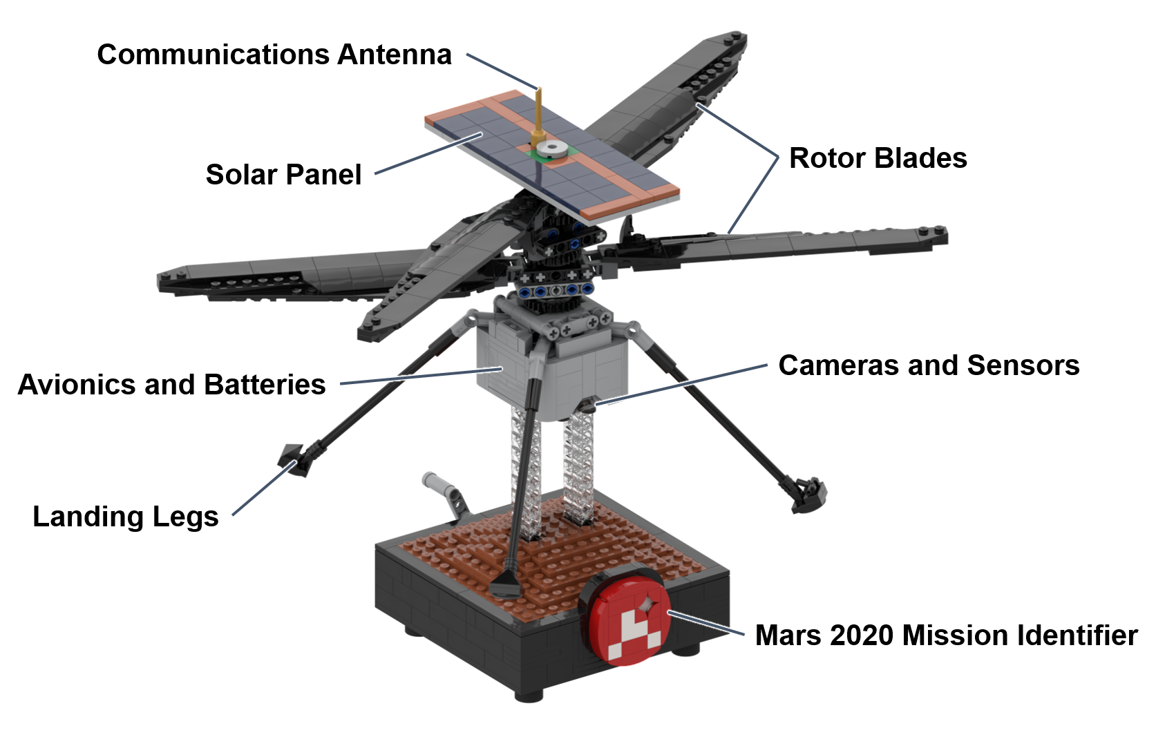 LEGO MOC NASA Mars Helicopter Ingenuity by Perijove | Rebrickable - Build  with LEGO
