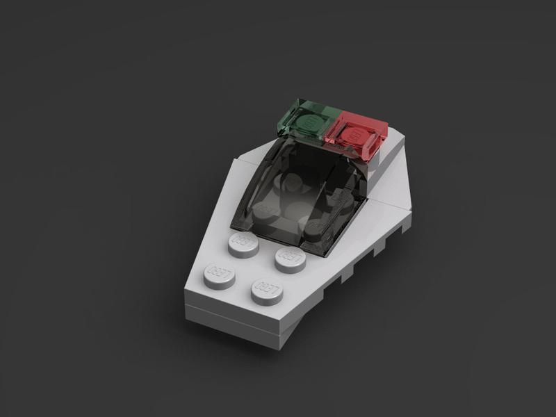 LEGO MOC-18735 Escape Pod (Micro) (Space 2018) | Rebrickable