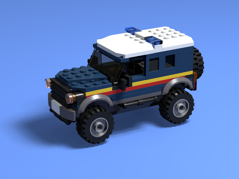 LEGO MOC-17522 RNLI 4X4 and Inshore Lifeboat (Town > City