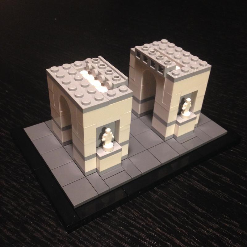 eiffleman 39 s architecture scale arc de triomphe special. Black Bedroom Furniture Sets. Home Design Ideas