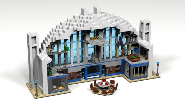 LEGO MOC-5562 Hall of Justice (Super Heroes 2015) | Rebrickable ...