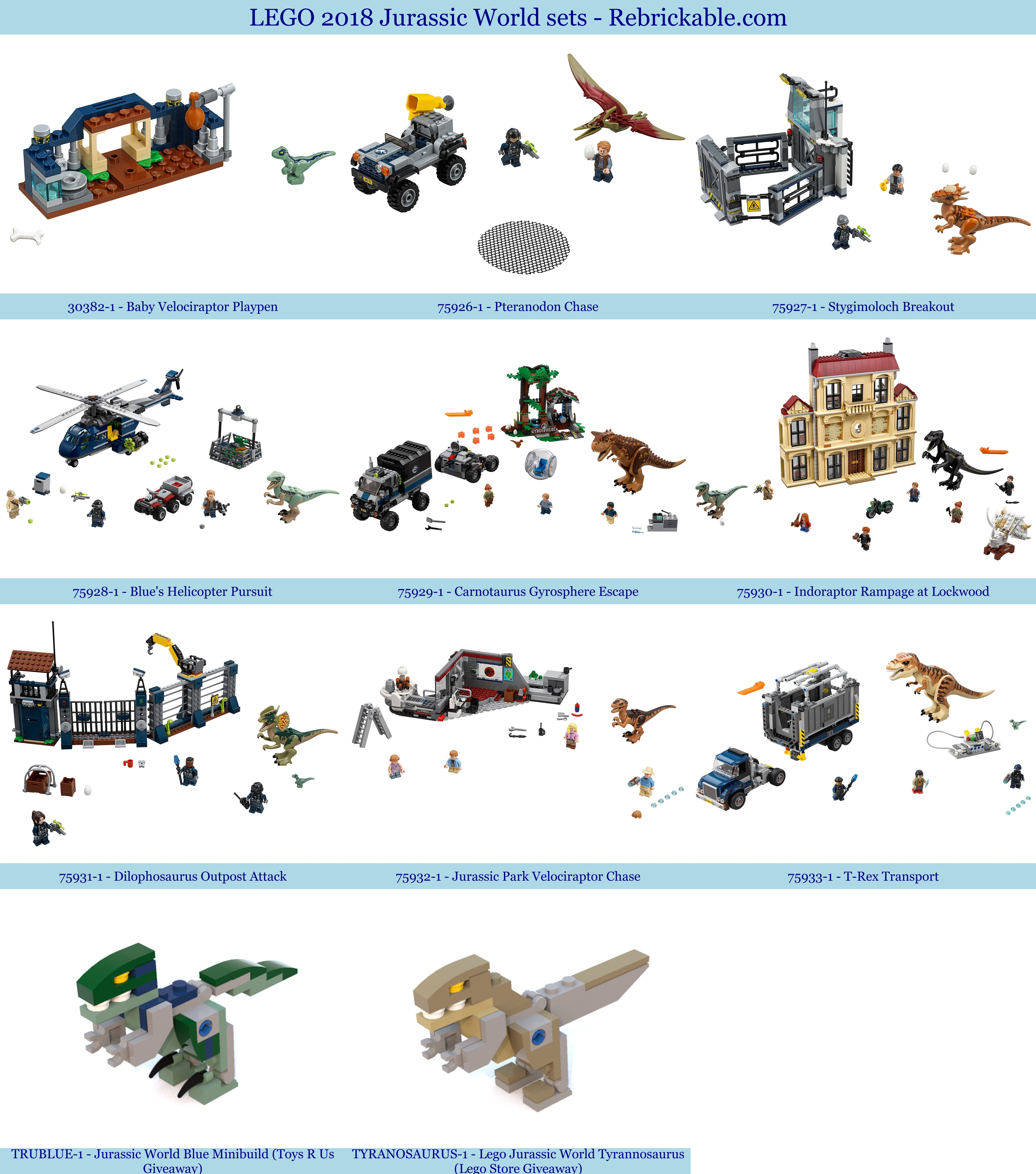 Lego Unveils The Complete Jurassic World Fallen Kingdom: Rebrickable - Build With LEGO