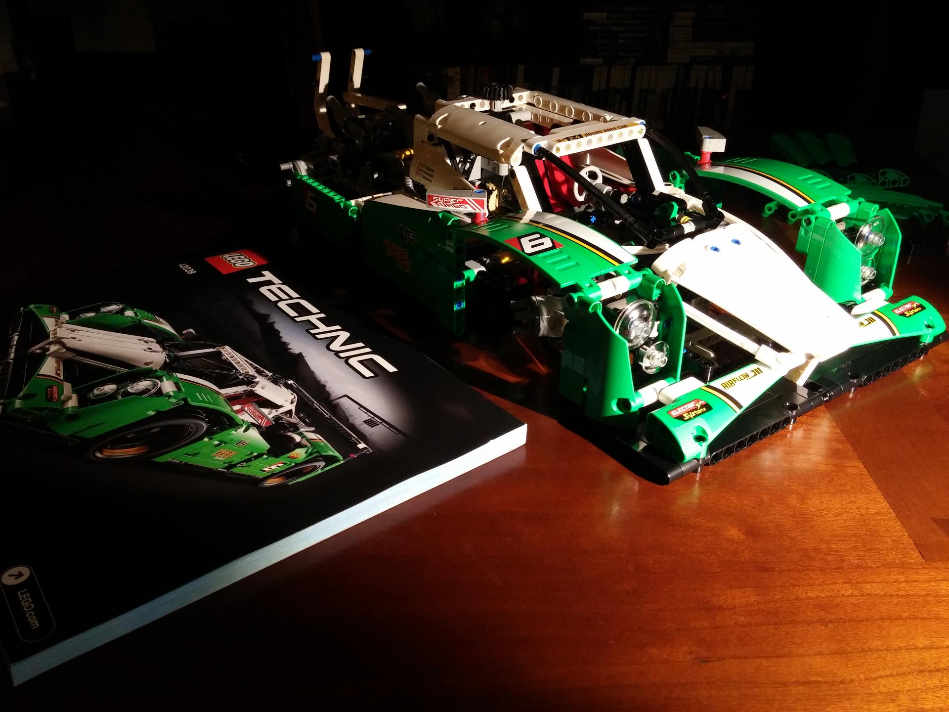 lego technic 24 hours race car instructions
