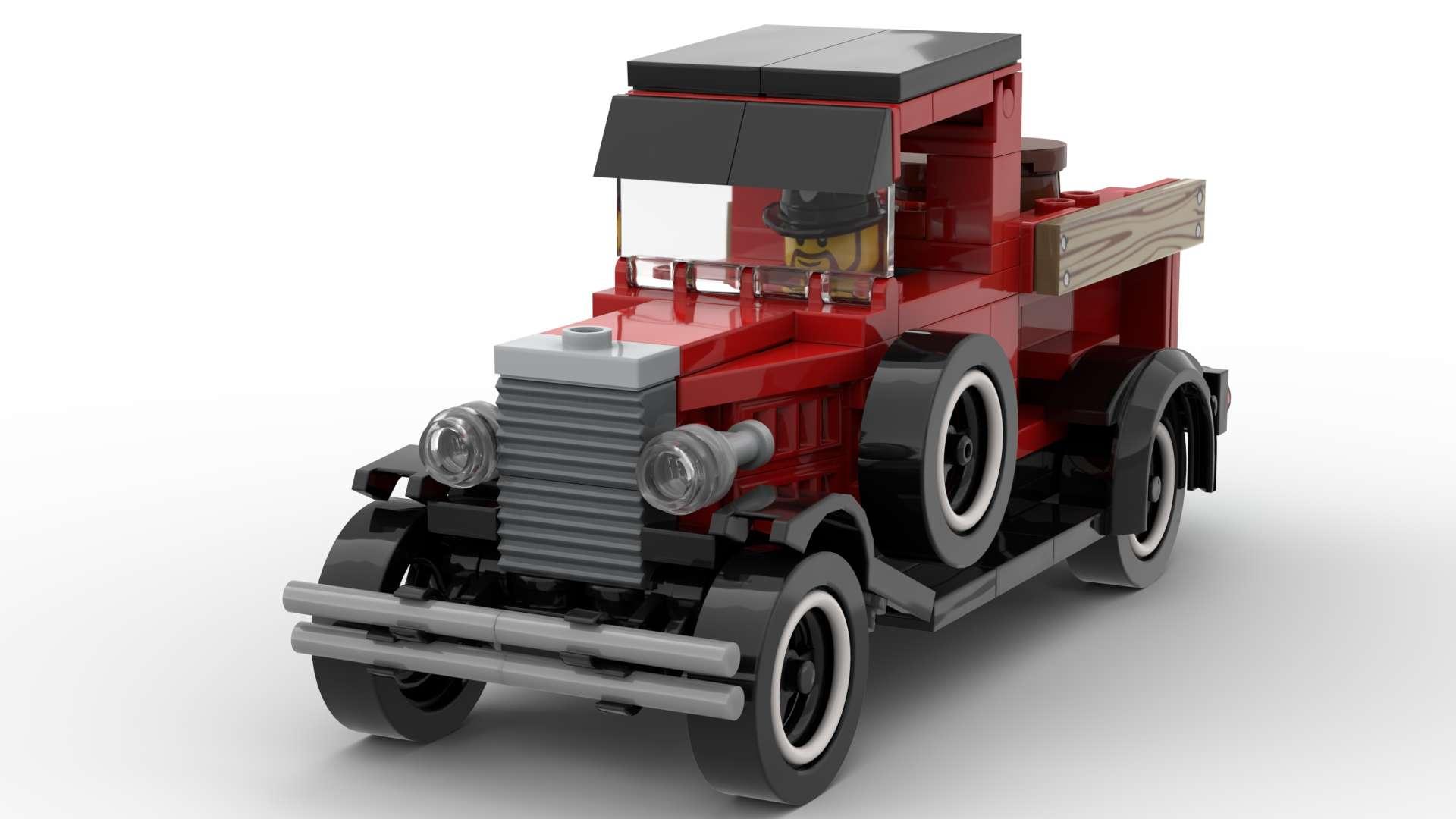 Ford Model-A LEGO INSTRUCTIONS ONLY vintage car model toy MOC