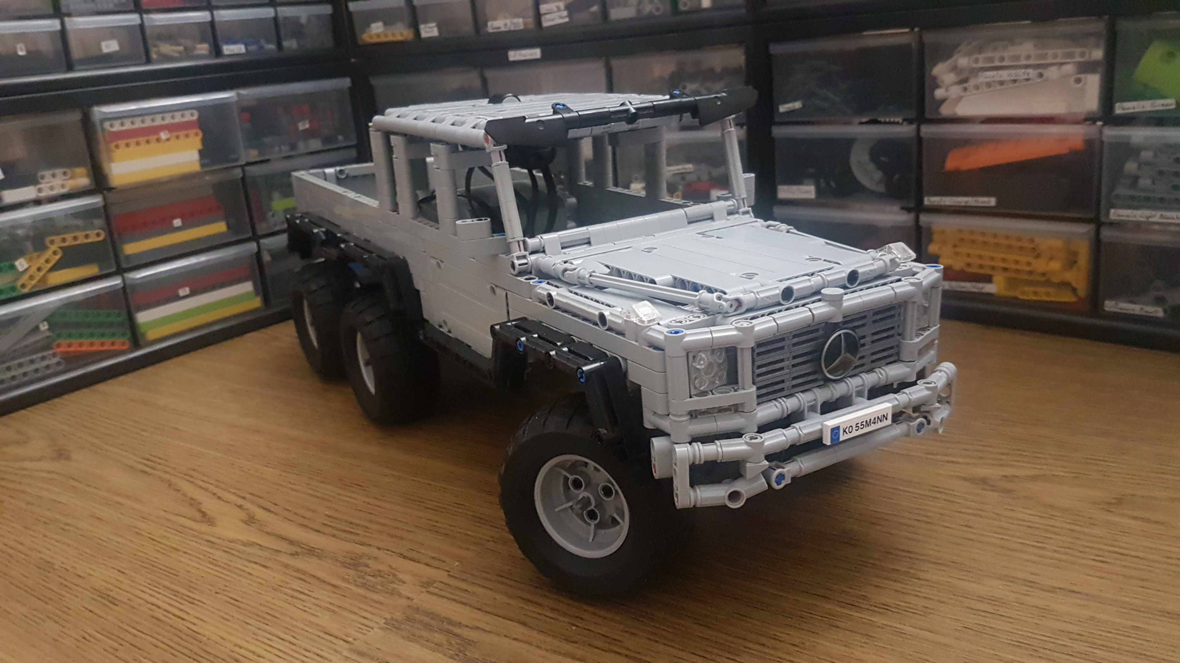 Lego Moc Mercedes Benz G Class 6x6 By Tsmarf Rebrickable Build With Lego