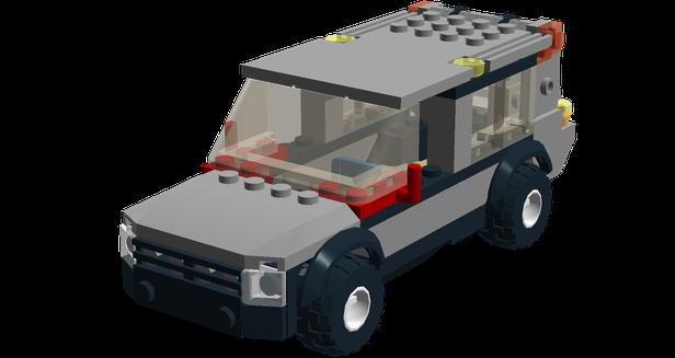 LEGO MOC-9530 4433 Land Rover Range Rover (Creator > Model ...