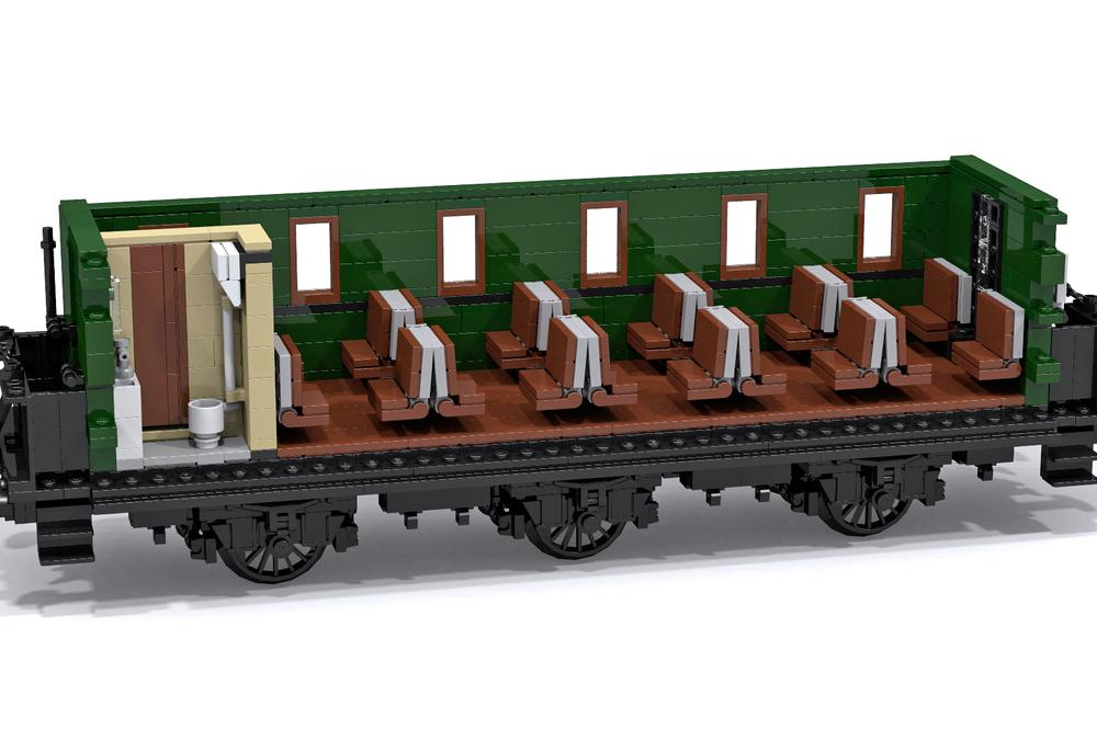 new mocs two passenger cars for my 0 8 0 lego train tech eurobricks forums. Black Bedroom Furniture Sets. Home Design Ideas