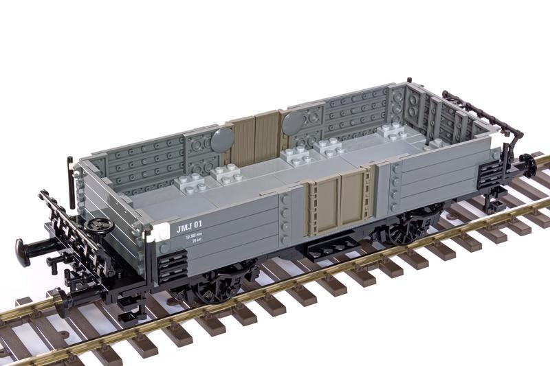 MOC: 1/33 two-axle open freight wagon - LEGO Train Tech