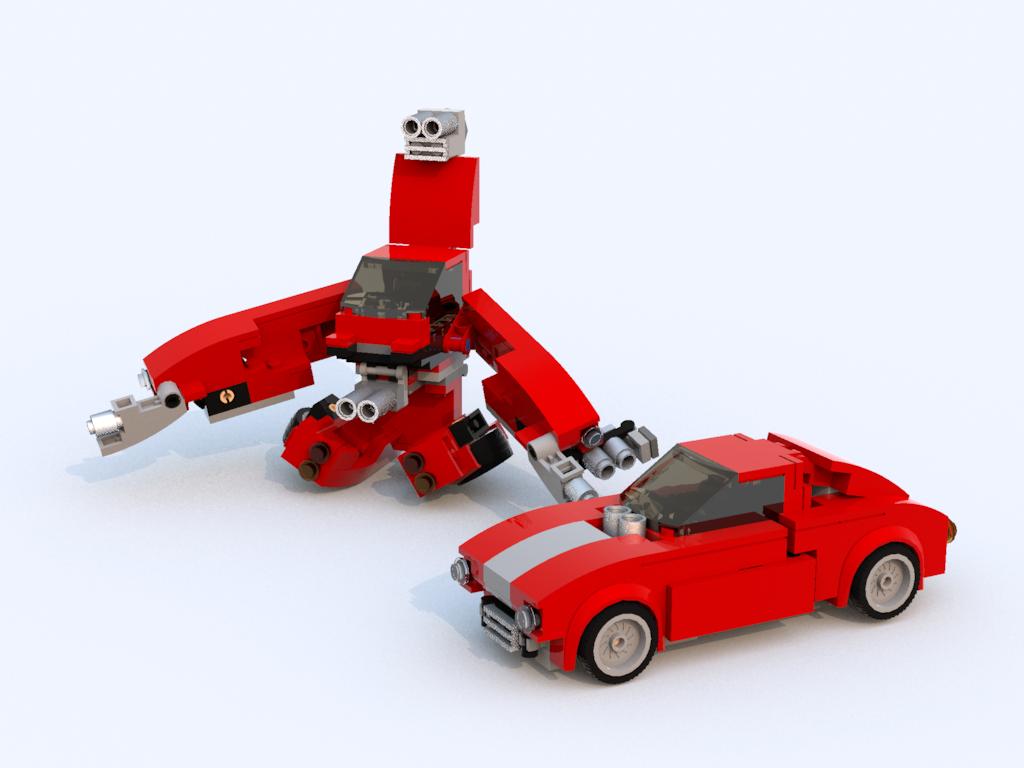 Как из лего сделать робота машину сам
