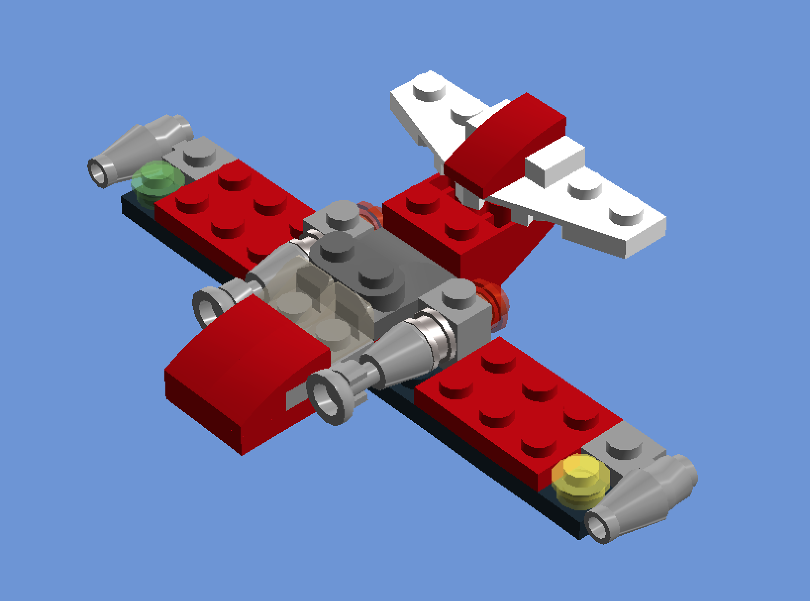 LEGO MOC-9669 Simple Jet (Creator > Basic Model > Airport 2017) | Rebrickable - Build with LEGO