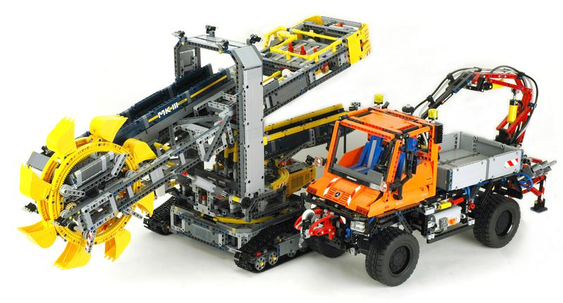 review 42055 bucket wheel excavator lego technic and. Black Bedroom Furniture Sets. Home Design Ideas