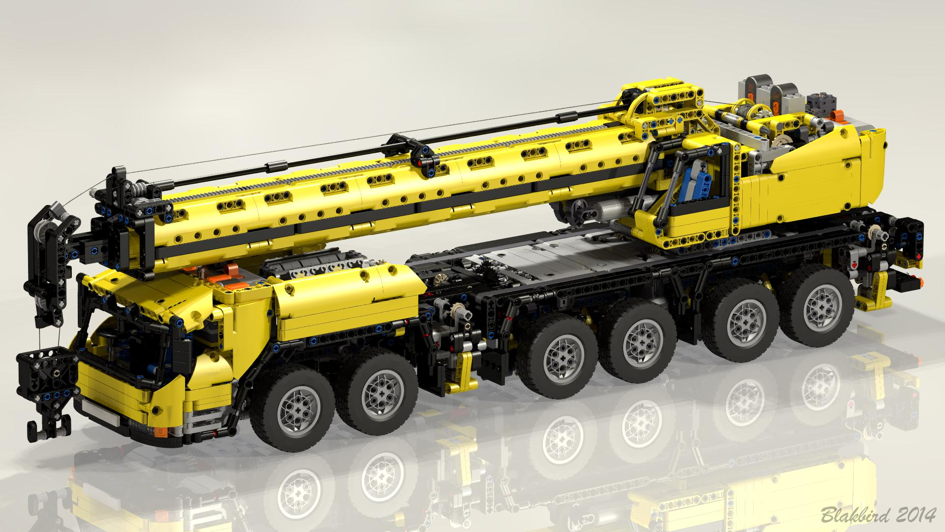 Lego moc-5509 grove gmk6400 mobile crane mk iii (technic 2015.