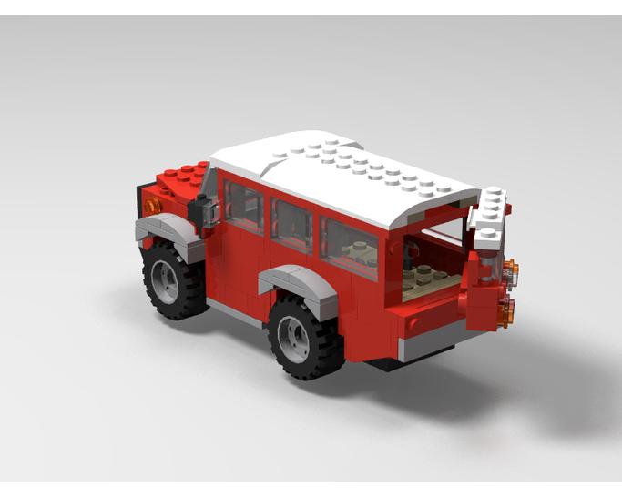 CITY SERIES MOC-7455 AWD Champions Land Rover Defender 110 by Bonzinip MOCBRICKLAND