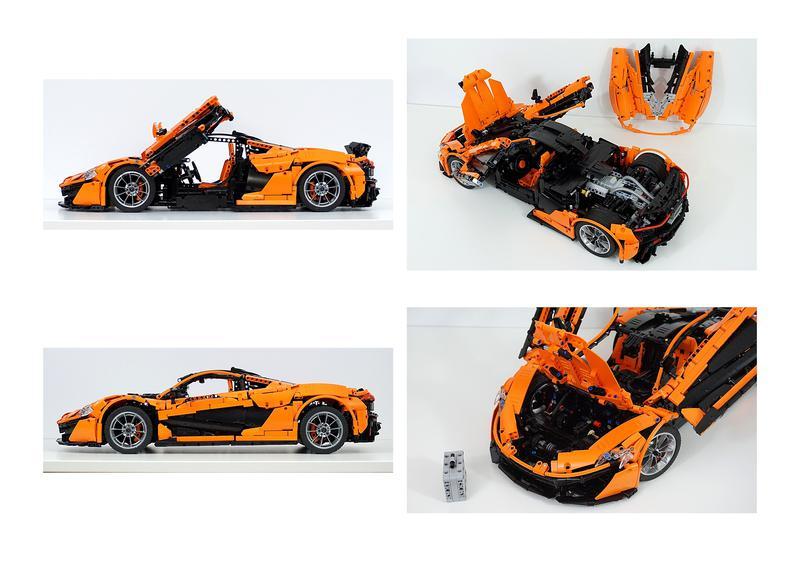 lego moc-16915 mclaren p1 hypercar 1:8 - manual version only