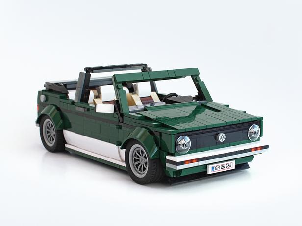 Lego Moc 7703 Vw Golf Mk1 Cabriolet Creator 2017 Rebrickable