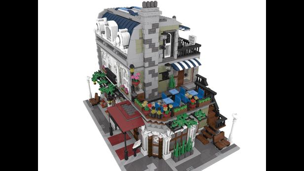 Lego Moc 10489 Parisian Restaurant Corner Modular Buildings 2016