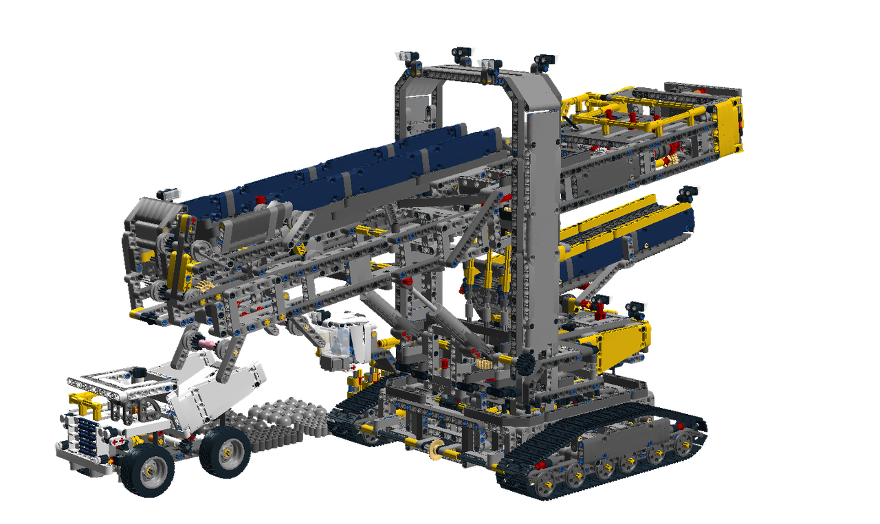 lego technic 42055 b model instructions