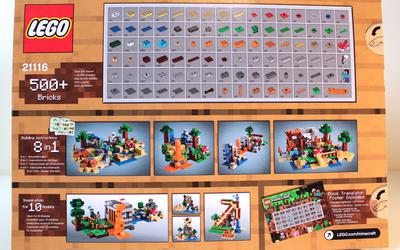 Back of LEGO Minecraft 21115 Crafting Box