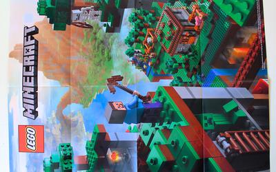Back of LEGO Minecraft 21115 Crafting Box poster