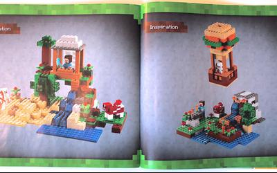 Inspiration models in second instruction manual of LEGO Minecraft 21115 Crafting Box