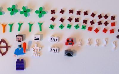 Rest of the pieces included in LEGO Minecraft 21115 Crafting Box