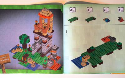 Instructions for the tower model of LEGO Minecraft 21115 Crafting Box