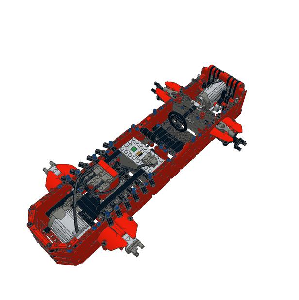 Lego Moc 8018 Red Road Racer Sbrick Technic 2017 Rebrickable
