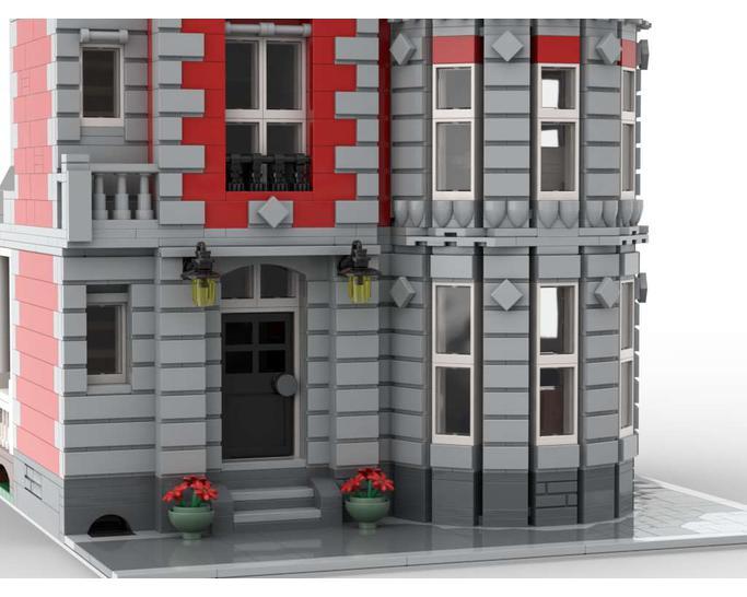 STREET SIGHT MOC 35065 Corner Mansion Modular by Jhobbs MOCBRICKLAND