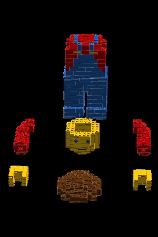 Lego Moc 7762 The Little Big Minifigure Sculptures 2017